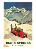 Ski Truck in Idaho Springs, Colorado Prints