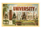 Greetings from University of Alabama, Tuscaloosa Kunstdrucke