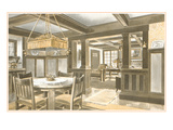 Interior of Craftsman House Print