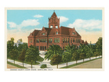 Orange County Courthouse, Santa Ana Poster