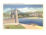 Suspension Bridge, Wheeling, West Virginia Posters