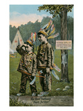 Little Boys Playing Indians Posters