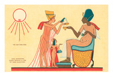 Pharaoh Aknaten and Family, Egypt Art