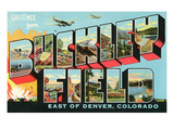 Greetings from Buckley Field, Colorado Print