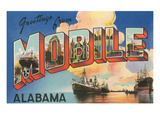 Greetings from Mobile, Alabama Art