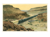 Train in Crozier Canyon, Kingman, Arizona Art