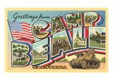 Greetings from Camp Beale, California Posters