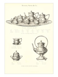 Rogers and Smith Engraved Tea Set Kunstdrucke