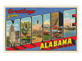 Greetings from Mobile, Alabama Posters