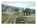 Train Crossing Klondike River, Dawson Posters