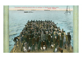 Ferry Passengers Leaving Nome, Alaska Prints