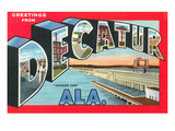 Greetings from Decatur, Alabama Art