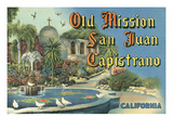 San Juan Capistrano Mission Posters