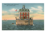 Lighthouse, New London Ledge, Connecticut Prints