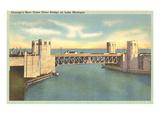Outer Drive Bridge, Chicago, Illinois Poster