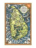 Mapa de Cey lon Tea Industry Sites Láminas