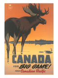 Travel Poster for Canada, Moose Art