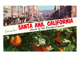 Greetings from Santa Ana, California Posters
