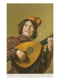 Franz Hals Painting of Mandolinist Prints