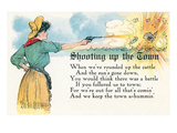 Shooting Up the Town Poem Prints