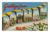Greetings from Dothan, Alabama Posters