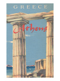 Travel Poster for Athens, Greece Poster