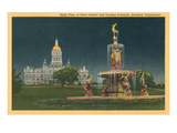 State Capitol, Corning Fountain, Hartford, Connecticut Prints