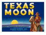 Packing Crate Label, Texas Moon Posters