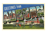 Greetings from Auburn, Alabama Poster