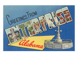 Greetings from Enterprise, Alabama Prints