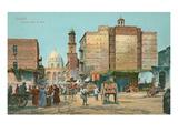 Old Cairo Street Scene, Egypt Prints