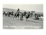 Cowboy Bulldogging, Montana Posters