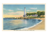 Lighthouse, New London Harbor, Connecticut Prints