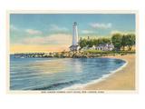 Lighthouse, New London Harbor, Connecticut Prints