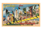 Greetings from Los Angeles, California Prints