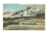 Ensley Steel Plant, Birmingham, Alabama Kunstdruck