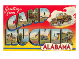 Greetings from Camp Rucker, Alabama Print