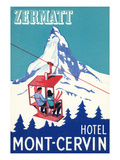 Hotel Mont-Cervin, Ski Lift Poster Print