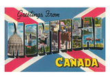 Greetings from Montreal, Canada Posters