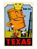 King Oil Decal Poster