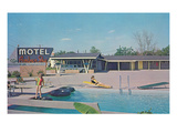 Motel Amber Sky Posters