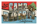 Salute from Camp Roberts, California Posters