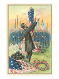 President Lincoln Speaking at Gettysburg Posters