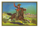 Mexican Vaquero with Lasso Posters