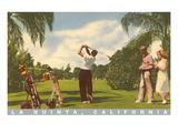 Golfing at La Quinta, California Prints