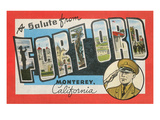 Greetings from Fort Ord, California Art