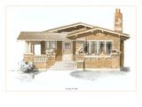 Rendering of Craftsman House Posters