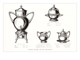 Silver Coffee Urn Set Posters