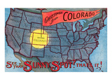 Greetings from Colorado, Sunny Spot Posters