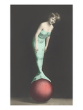 Mermaid Balanced on Ball Posters